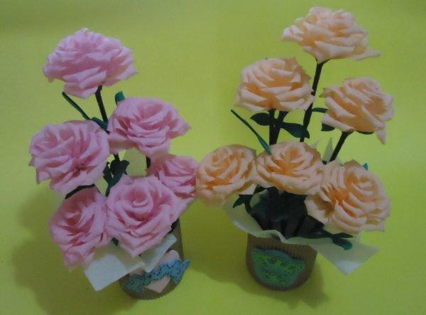 cmo hacer rosas de papel para regalar - Como Hacer Rosas De Papel