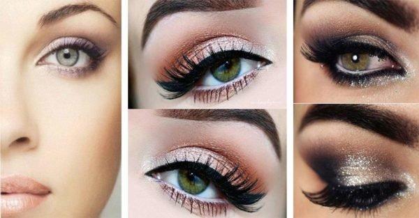 Maquillaje de noche para ojos azules for Como maquillar ojos ahumados paso a paso