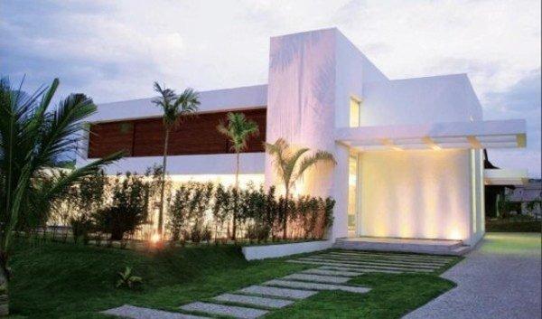 De 180 fotos de fachadas de casas modernas casas - Casas con jardines bonitos ...