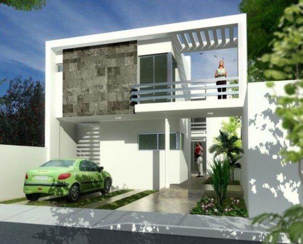 De 180 fotos de fachadas de casas modernas casas for Casas con balcon y terraza