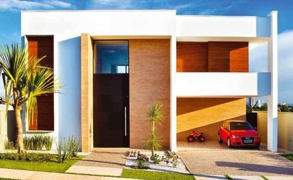 fachadas de las casas ms bonitas y modernas casa con garaje y plantas - Fachadas Modernas De Casas