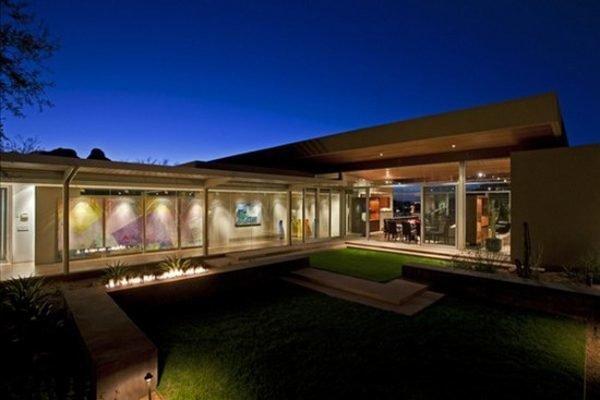 De 180 fotos de fachadas de casas modernas casas for Casas en ele planos
