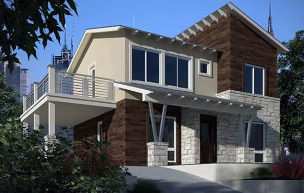 De 180 fotos de fachadas de casas modernas casas - Casas de piedra y madera ...