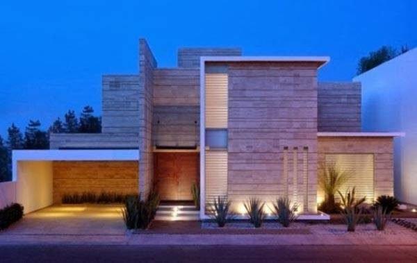 fachadas-de-las-casas-más-bonitas-y-modernas-dos-bloques-y-garage