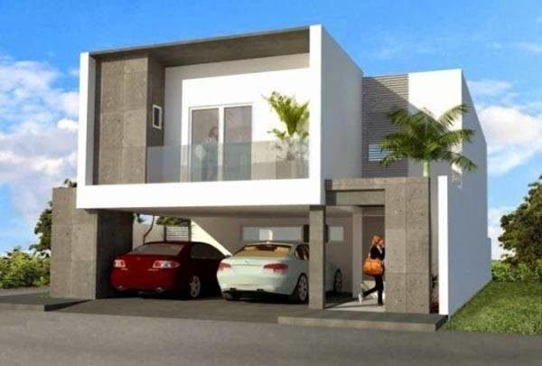 De 180 fotos de fachadas de casas modernas casas for Casas estilo minimalista de dos plantas