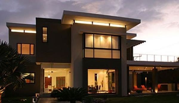 De 180 fotos de fachadas de casas modernas casas for Casa minimalista 3 pisos