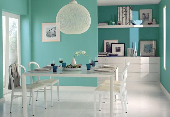 Ideas de colores para el comedor for Cocina pintura pato azul