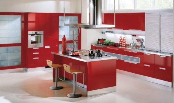 ideas-combinar-los-colores-la-cocina-cocina-roja-blanca
