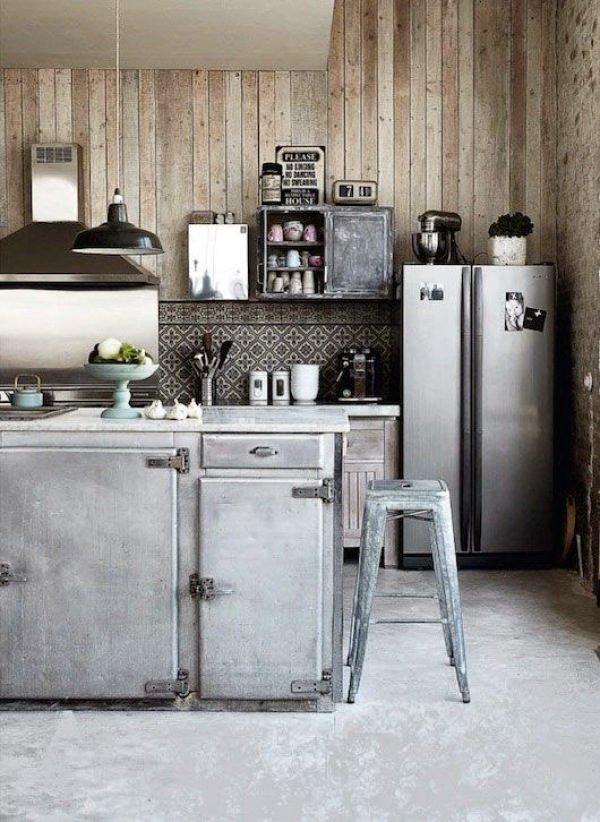 mas-50-fotos-cocinas-pequenas-modernas-2016-cocina-con-estilo-industrial