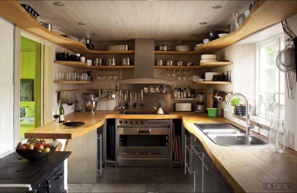 mas-50-fotos-cocinas-pequenas-modernas-2016-cocina-con-un-diseñó-que-envuelve