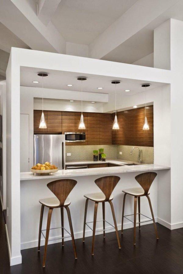 mas-50-fotos-cocinas-pequenas-modernas-2016-cocina-con-una-barra