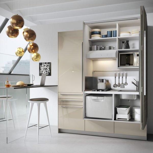 cocina pequea de estilo futurista - Cocinas Pequeas De Diseo