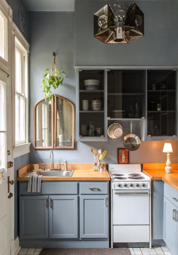 mas-50-fotos-cocinas-pequenas-modernas-2016-cocina-en-color-azul