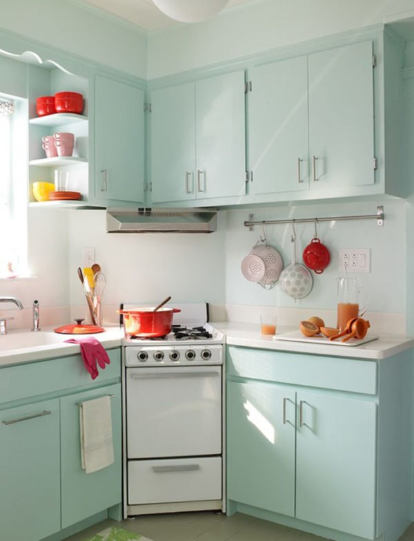 mas-50-fotos-cocinas-pequenas-modernas-2016-cocina-estilo-retro-tonos-pastel