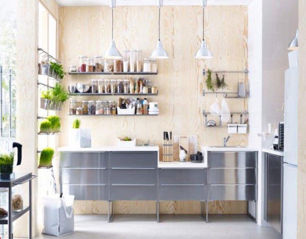 mas-50-fotos-cocinas-pequenas-modernas-2016-cocina-madera-y-aluminio-muy-iluminada