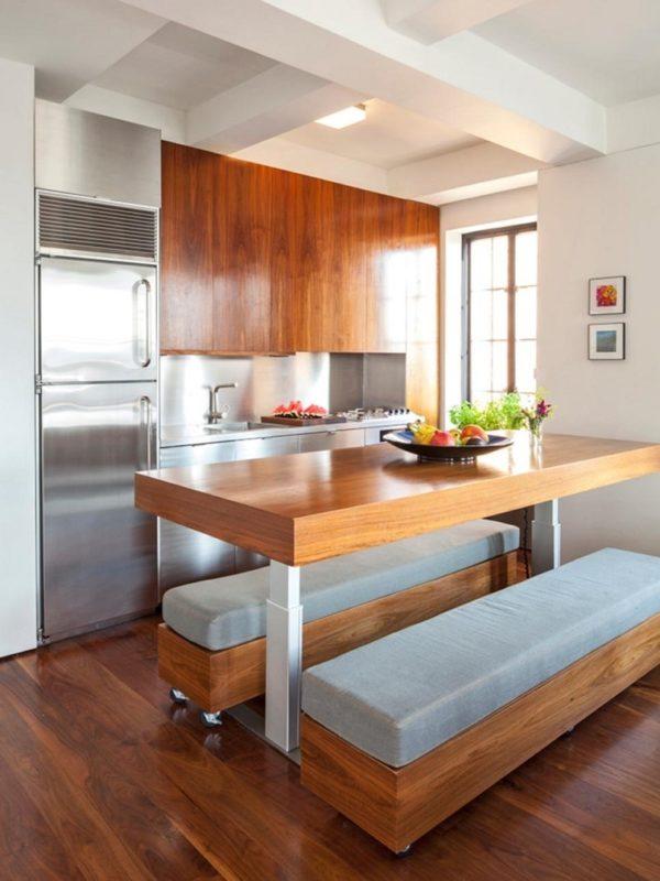 mas-50-fotos-cocinas-pequenas-modernas-2016-cocina-pequeña-con-madera-y-aluminio
