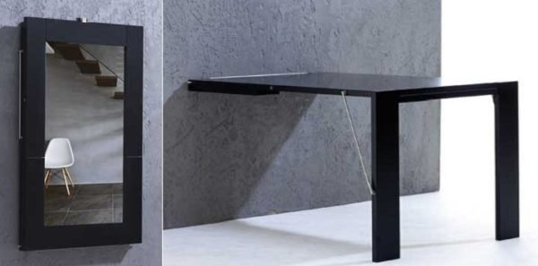 Mesas plegables 2019 - Mesa de comedor plegable a la pared ...