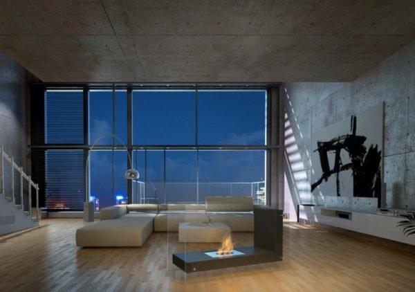 De 150 fotos de decoraci n de salones modernos - Salones modernos con chimenea ...