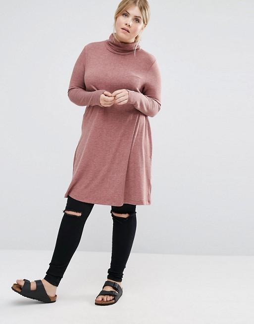 vestidos-para-gorditas-otono-invierno-2017-cuello-alto