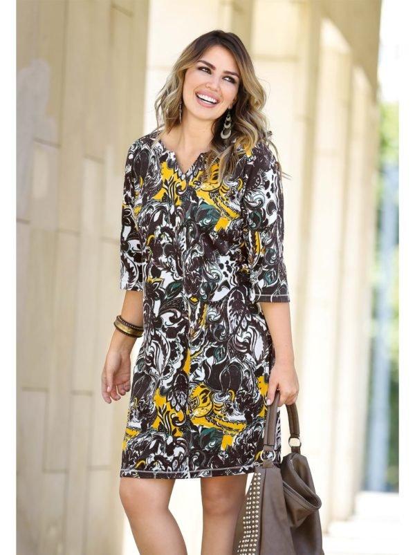 vestidos-para-gorditas-otono-invierno-2017-estampado-amarillo