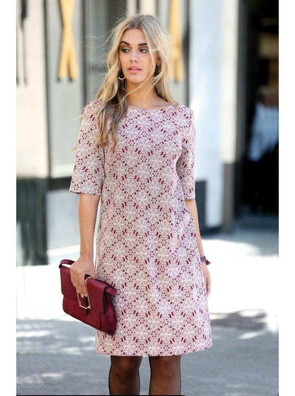 vestidos-para-gorditas-otono-invierno-2017-rombos-rojos