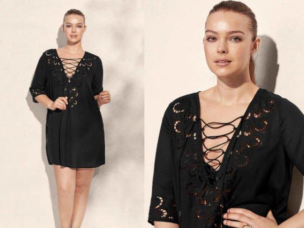 vestidos-tallas-grandes-mango-negro-cruzado