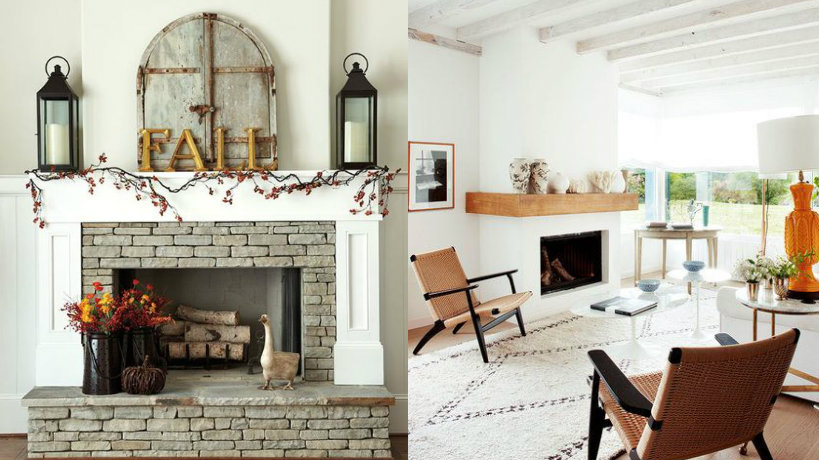 De 100 fotos con ideas de chimeneas r sticas for Decoracion chimeneas de lena