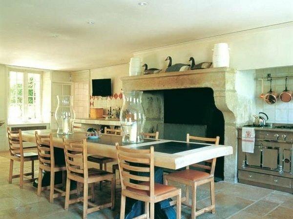 60 ideas de decoraci n de cocinas r sticas y cocinas de - Ver chimeneas rusticas ...