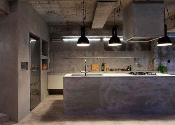 60 ideas de decoraci n de cocinas r sticas y cocinas de obra fotos - Cocinas de material rusticas ...