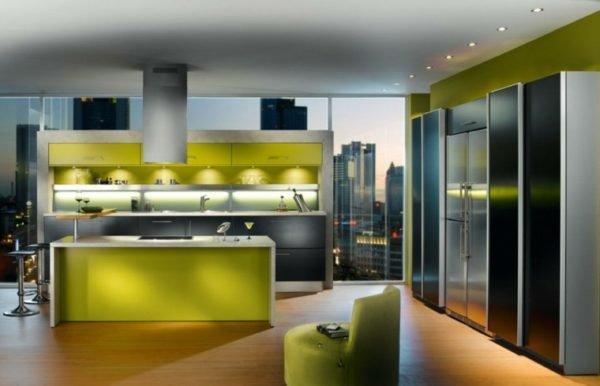 cocinas-con-isla-de-colores-verde