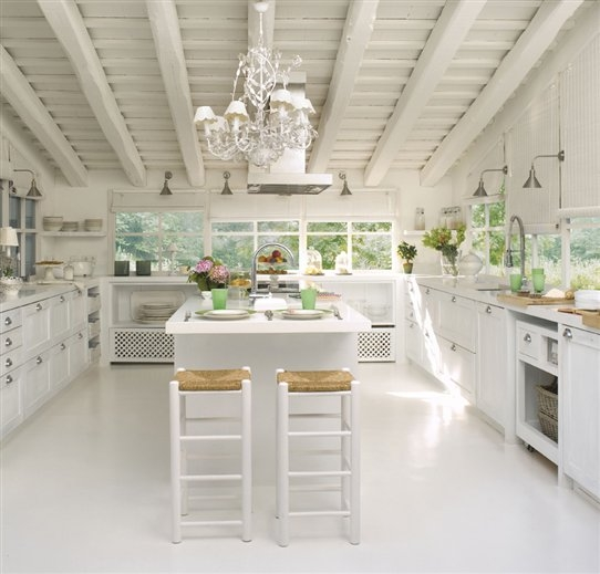 60 ideas de decoraci n de cocinas r sticas y cocinas de - Cocinas blancas rusticas ...