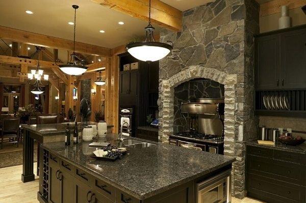 60 ideas de decoraci n de cocinas r sticas y cocinas de for Cocinas rusticas de obra
