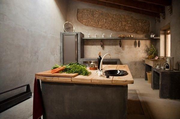 60 ideas de decoraci n de cocinas r sticas y cocinas de obra fotos - Cocinas de obra rusticas ...