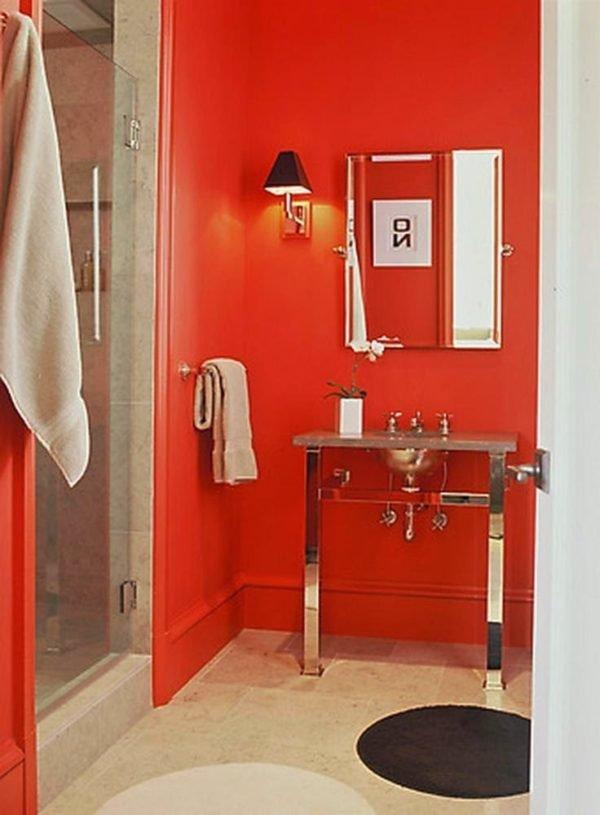 Colores para cuartos de ba o peque os 2018 for Great un bano con paredes en naranja de