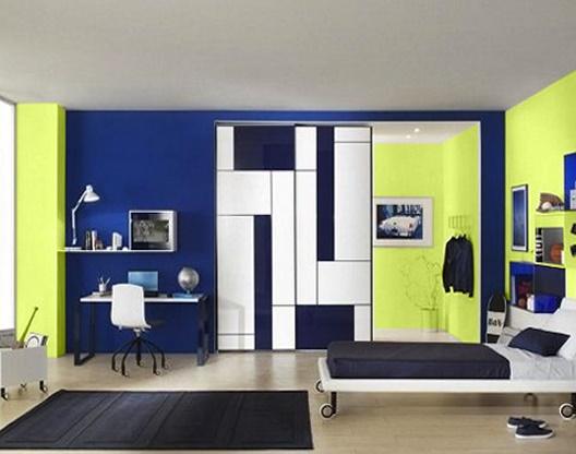 Colores para cuartos juveniles habitaciones 2018 for Cuartos pintados de azul