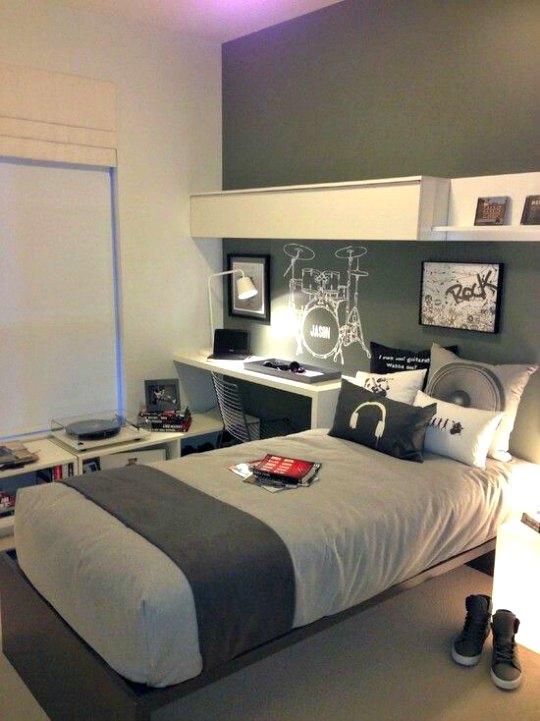 Colores para cuartos juveniles habitaciones 2018 for Cuarto color gris