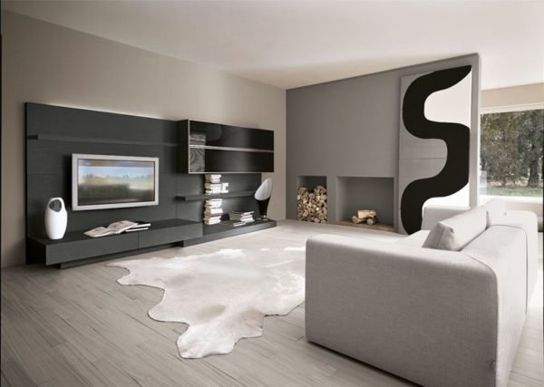 de 150 fotos de decoraci n de salones modernos. Black Bedroom Furniture Sets. Home Design Ideas