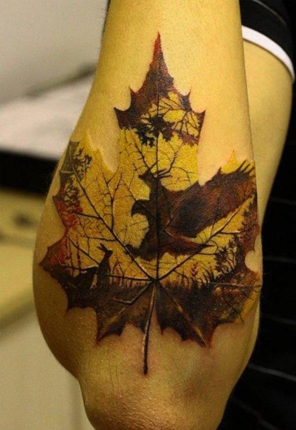 los-mejores-tatuajes-antebrazo-hoja