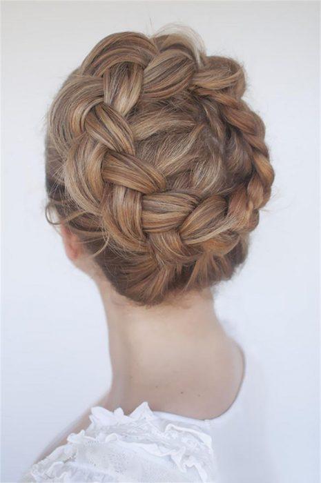 peinados con trenzas corona perfecta - Peinados De Trenzas