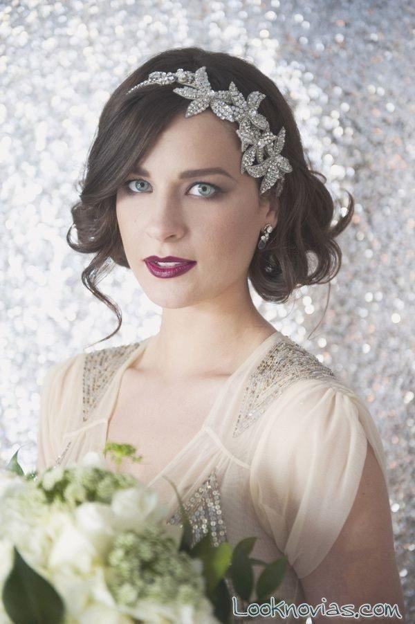Peinados de novia 2017 media melena