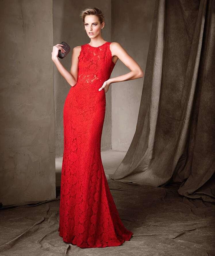 Vestidos rojos elegantes tejidos en crochet