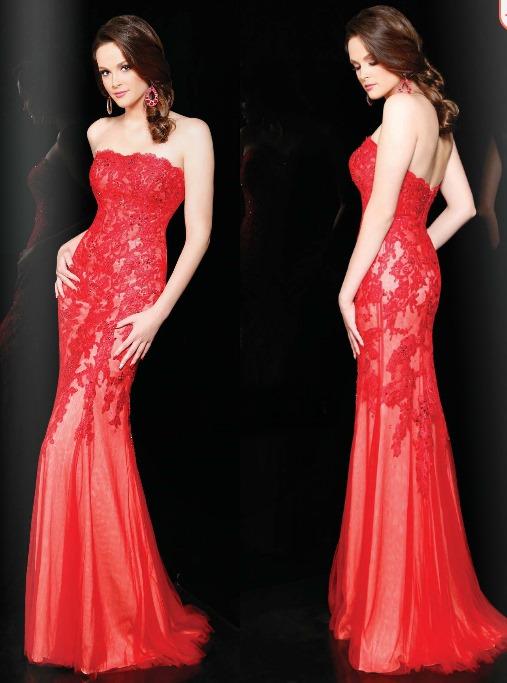 Vestidos fiesta rojo 2015