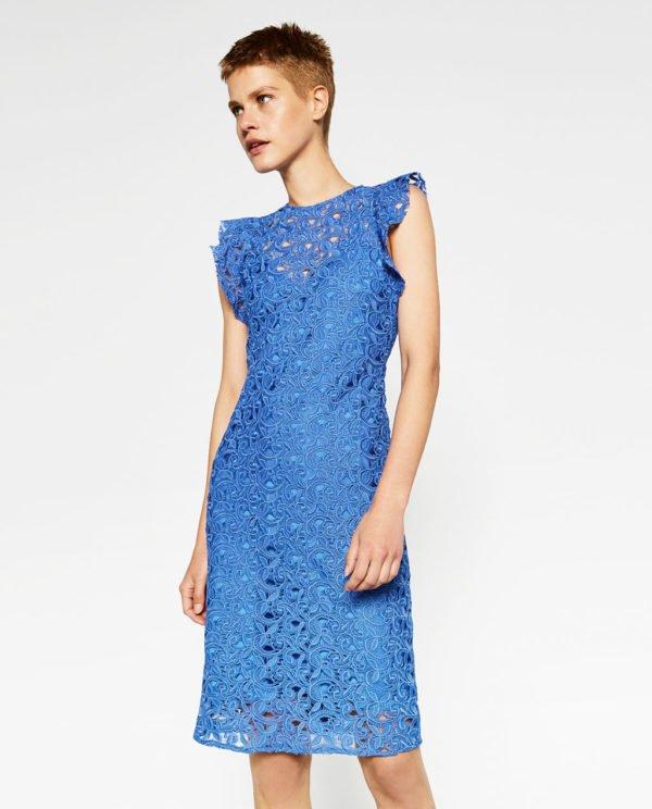 Vestidos de fiesta cortos Zara 2016. Primavera Verano azulina