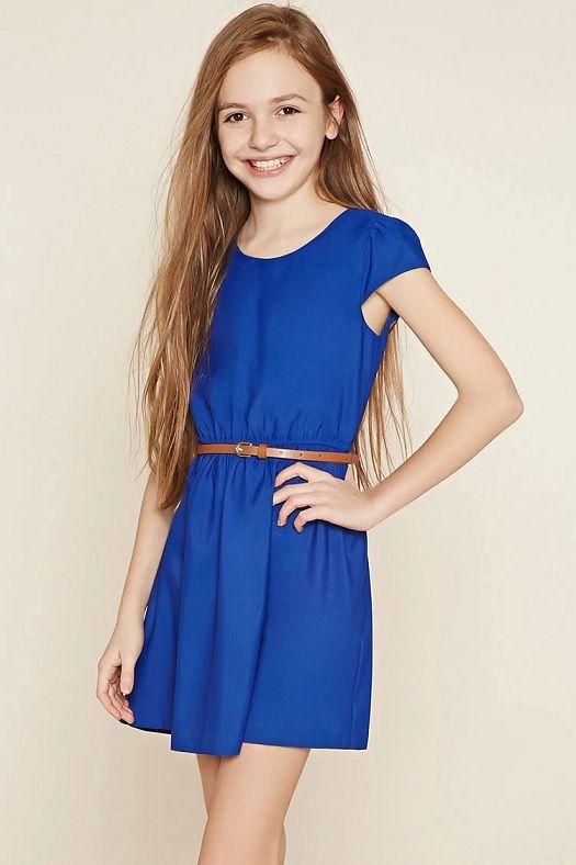 vestidos-de-fiesta-de-niña-otoño-invierno-2017-sencillo-azul