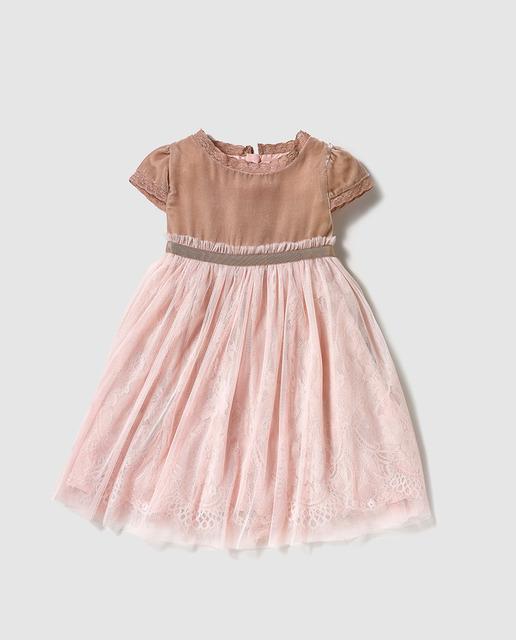 Vestidos de fiesta de niña Primavera Verano 2017 color \u2013 Rosa palo