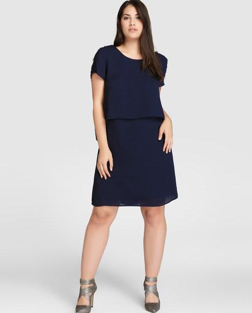 vestidos de fiesta para gorditas otoo invierno u cortos u azul marino