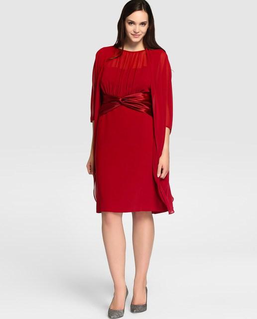 vestidos-de-fiesta-para-gorditas-otoño-invierno-2017-rojo