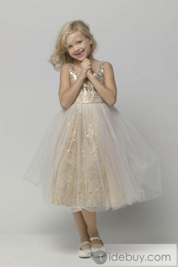vestidos-de-fiesta-para-niñas-brillo-dorado