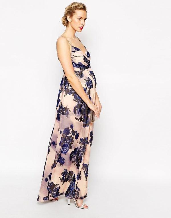 vestidos-de-fiesta-premama-largo-estampado