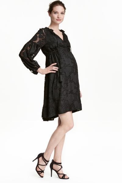 vestidos-de-fiesta-premama-otoño-invierno-2017-encaje-negro